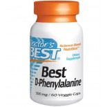 Best D-Phenylalanine 500 mg (60 Veggie Caps ) - Doctor's Best
