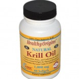 Krill Oil Natural Vanilla Flavor 1000 mg (60 Softgels) - Healthy Origins