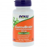 CurcuBrain Cognitive Support 400 mg (50 Vegetarian Capsules) - Now Foods