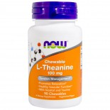L-Theanine 100 mg (90 chewable tablets) - Now Foods
