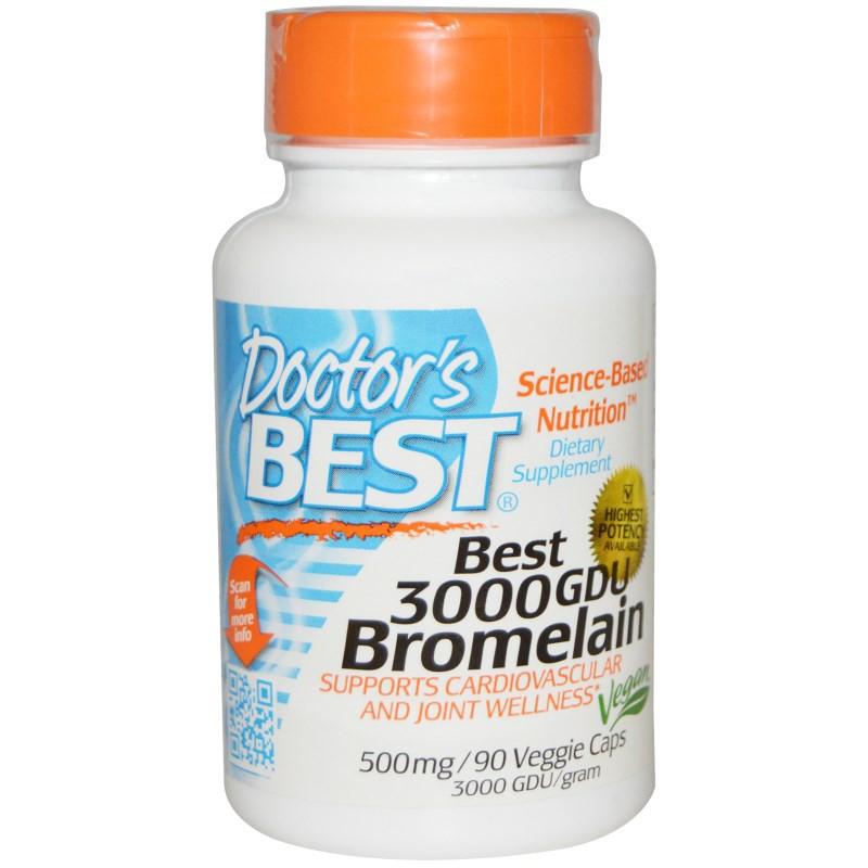 kaufen best 3000 gdu bromelain 500 mg 90 veggie caps doctor 39 s best. Black Bedroom Furniture Sets. Home Design Ideas
